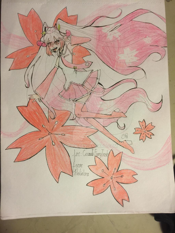Sakura Hatsune Miku by pinkielora