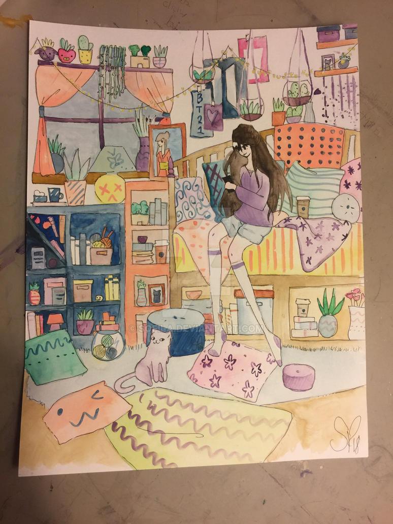 Bedroom  by pinkielora