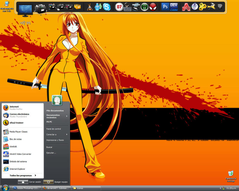 Current desktop by teft