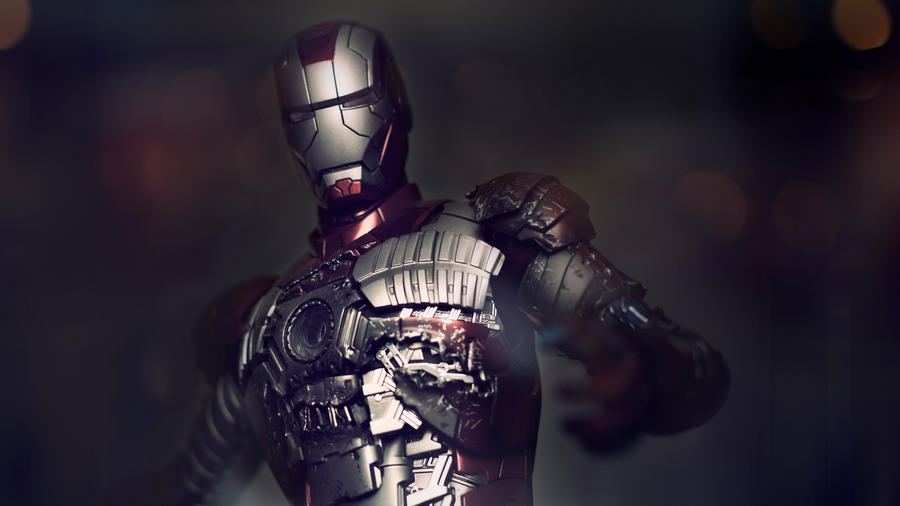 Iron Man Mark V Wallpaper by john-hoang on DeviantArt  Iron Man Mark V...