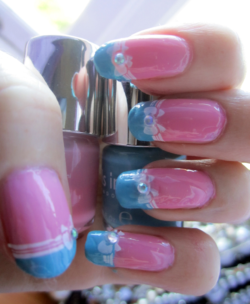 Pastel Bow Manicure by soyoubeauty