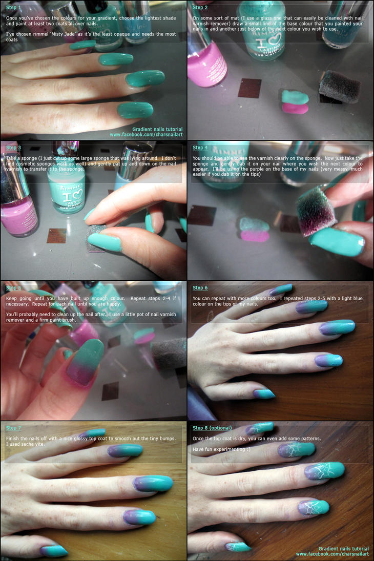 Gradient Nails Tutorial by soyoubeauty on DeviantArt