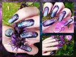 Galaxy Nails Closeups