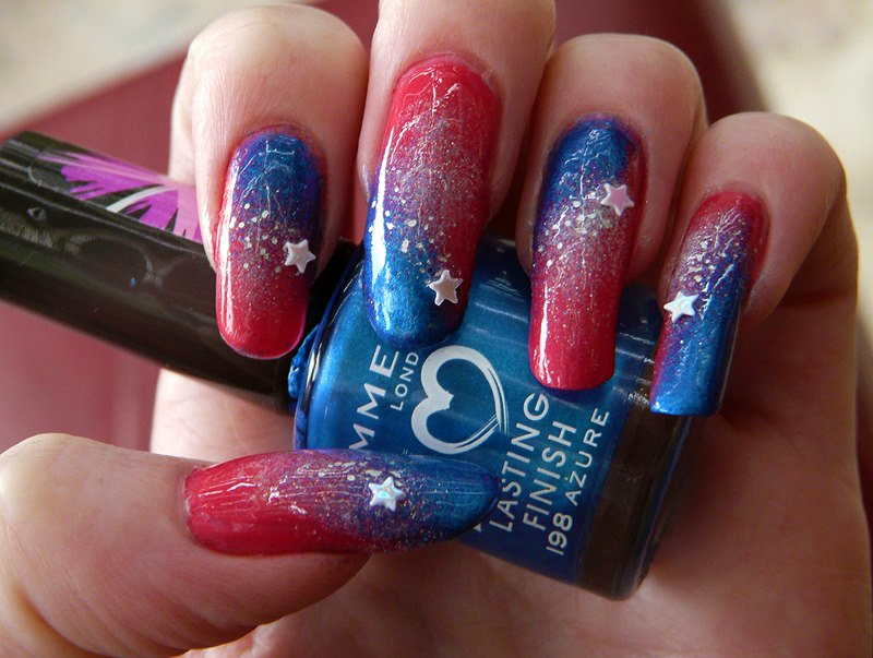 Shooting Star Nails Closeup by soyoubeauty on DeviantArt