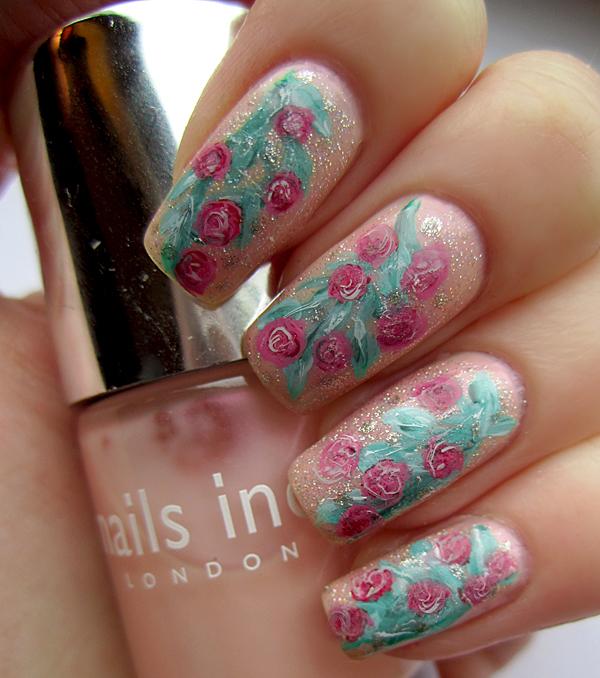 Pink Rose Nail Art By Soyoubeauty On Deviantart