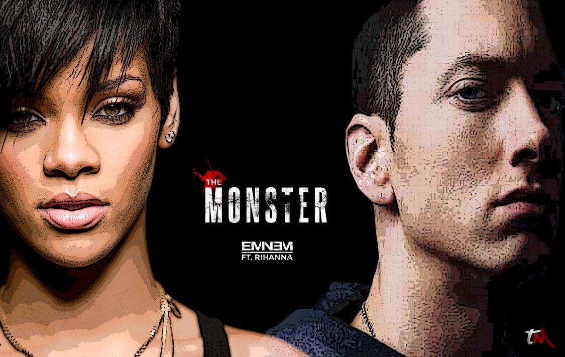 Eminem Rihanna The Monster By ByTM On DeviantArt