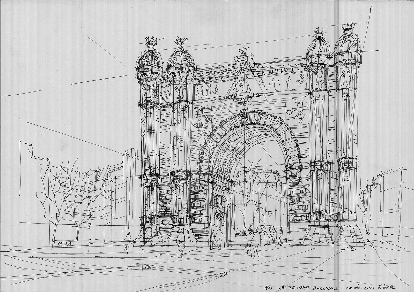 Arc de Triomf by magdalenawitek