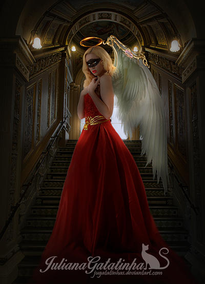 The red dress angel. by jugatatinhas