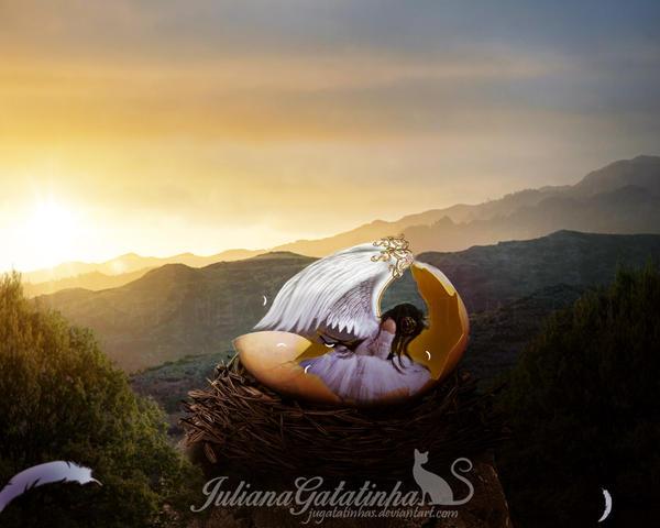 Birth of an Angel by jugatatinhas