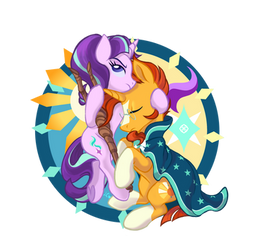 Evil starlight glimmer x Sunburst by Ingresar