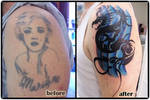 Tribal dragon cover up