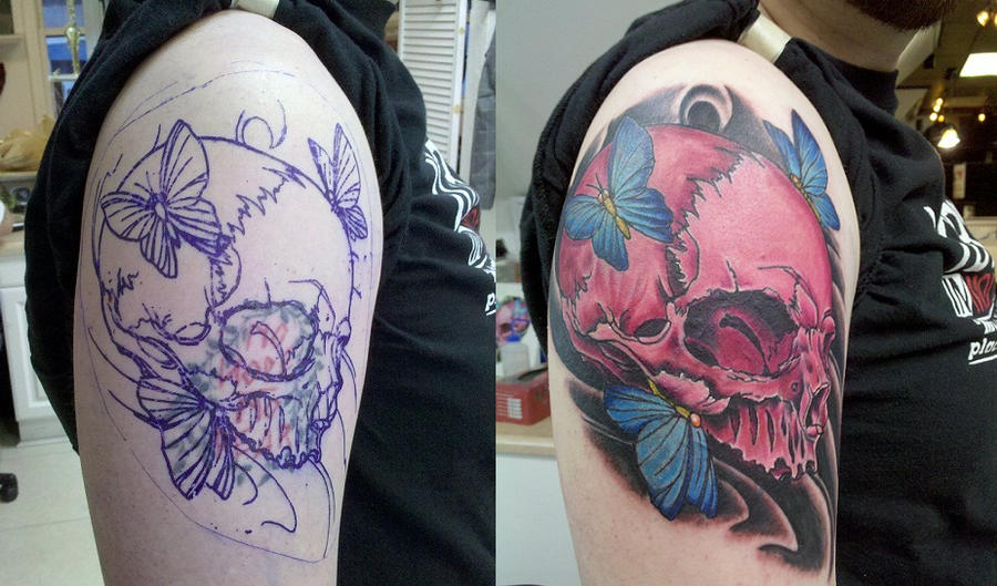 Pink Skull Coverup