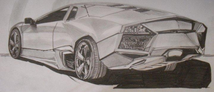 Lamborghini reventon drawing
