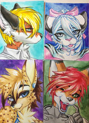 Watercolor Head shots!! $10. Free for Patreons!