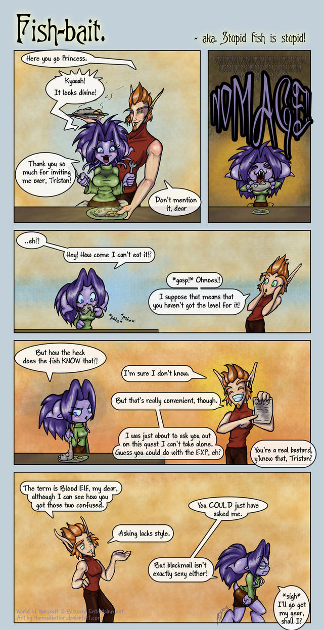 Wow-comic  Fish-bait by MrsCorax