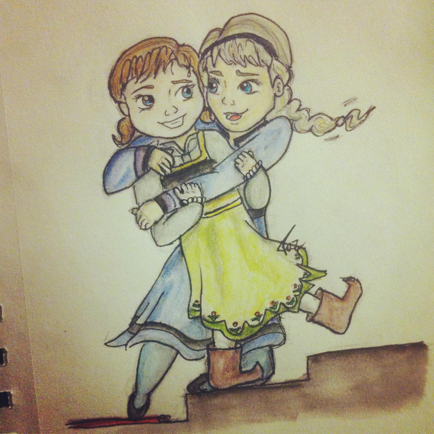 Little Anna Frozen Drawing