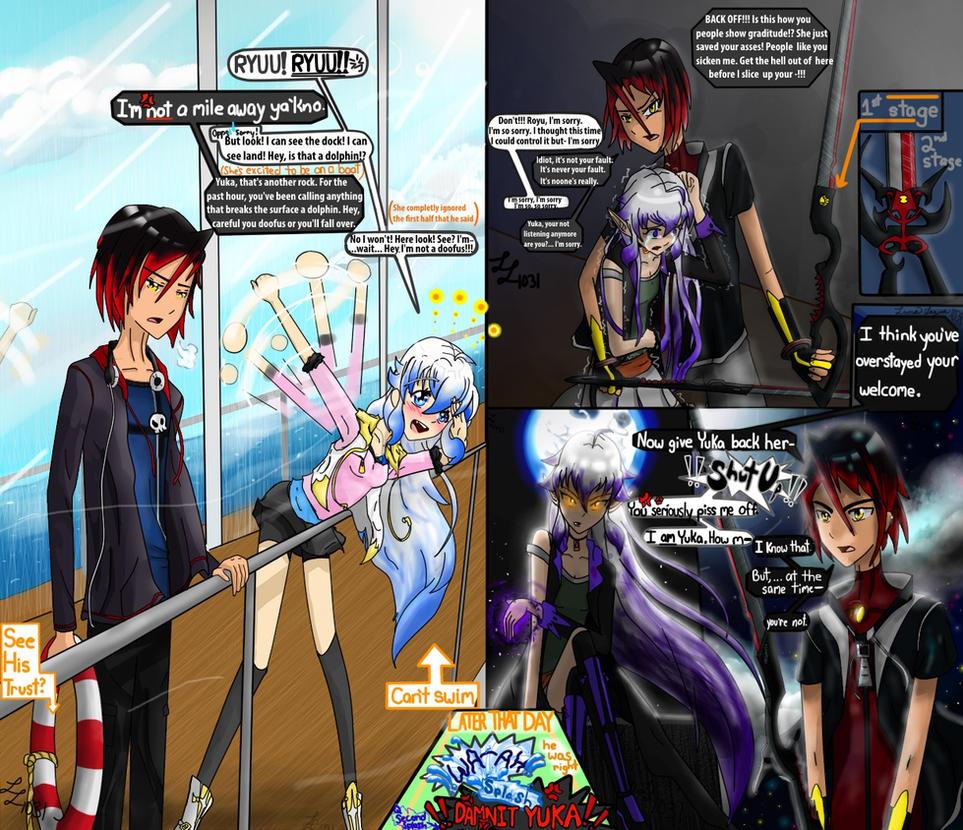 My first Oc's Ryou and Yuka by LunaLayosa-1031