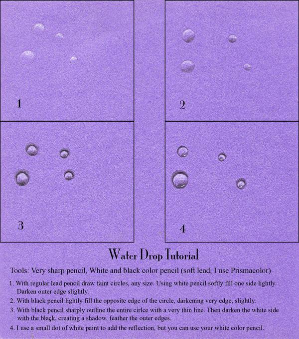 Tutorial-Water Drop by claudiamm37