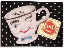 ATC Tea Cup Bailey Boy by claudiamm37