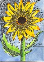 ATC Dottie Sunflower by claudiamm37