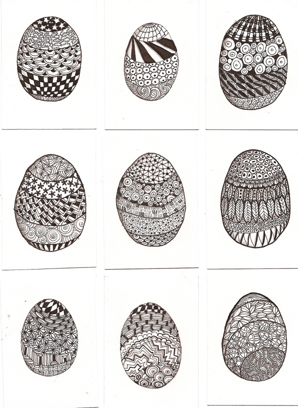ATC Zentangle Easter Eggs By Claudiamm37 On DeviantArt