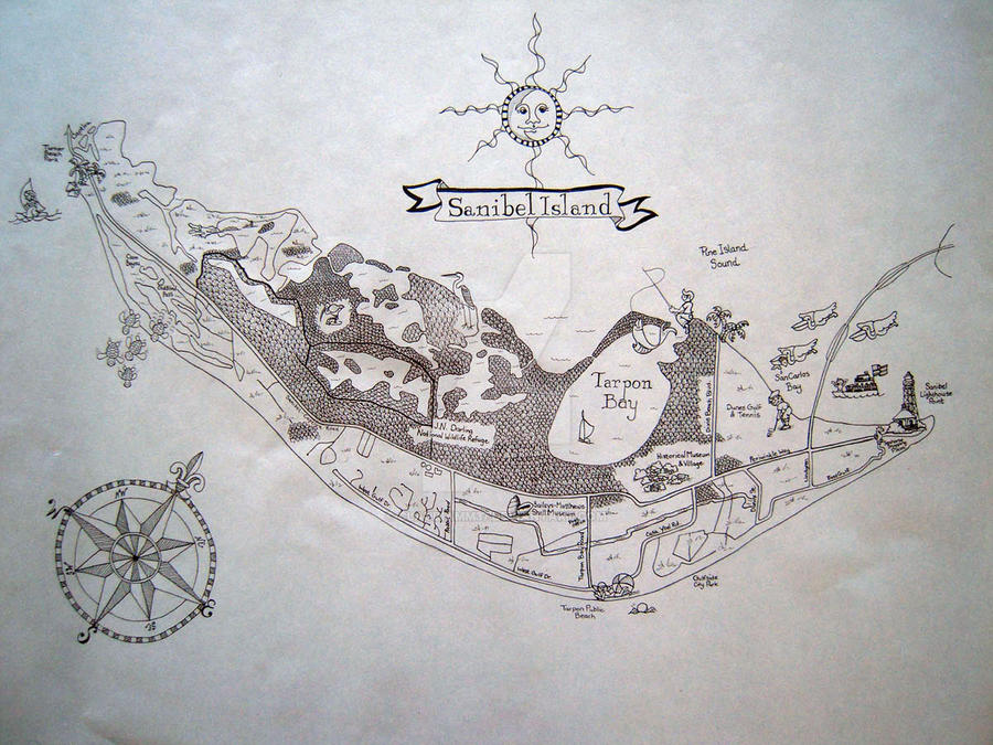 Map Of Sanibel Island Florida.Map Sanibel Island Fl By Claudiamm37 On Deviantart