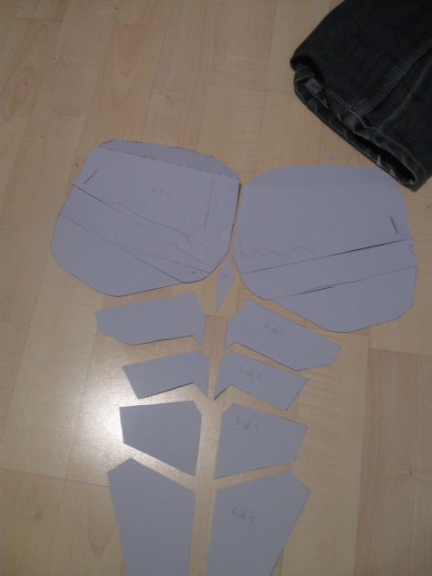 Nightwing armour templates by Hiddenvial on DeviantArt