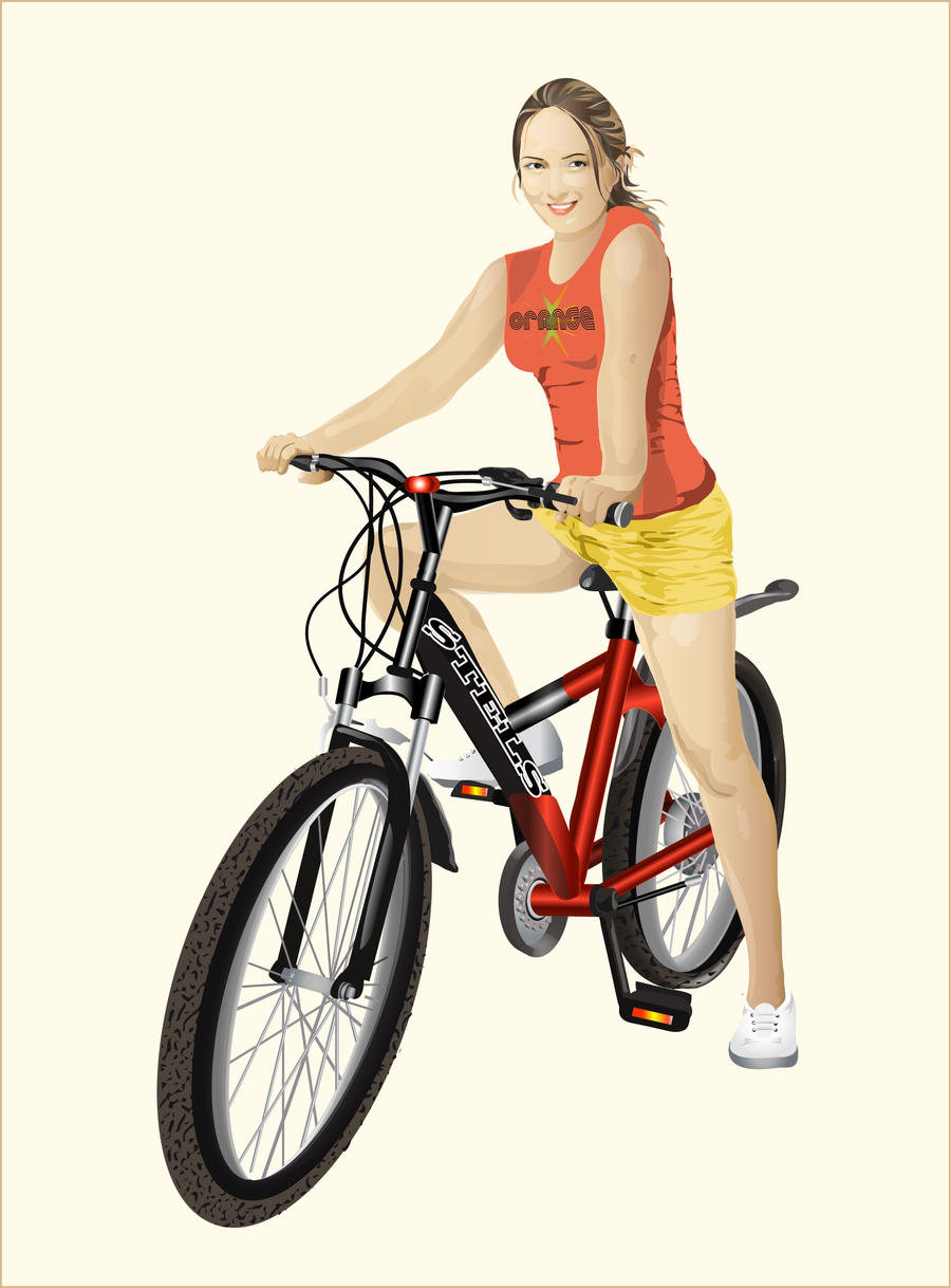 Girl on bike by Natamur