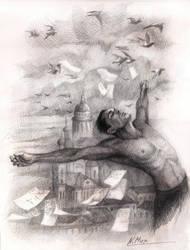 Poet. Illustration for poetry by Natamur