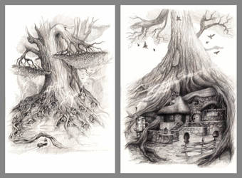 Illustrations, Pencil 2B-8B by Natamur