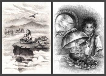 Illustration for the novel K. Tyutyunkov. by Natamur