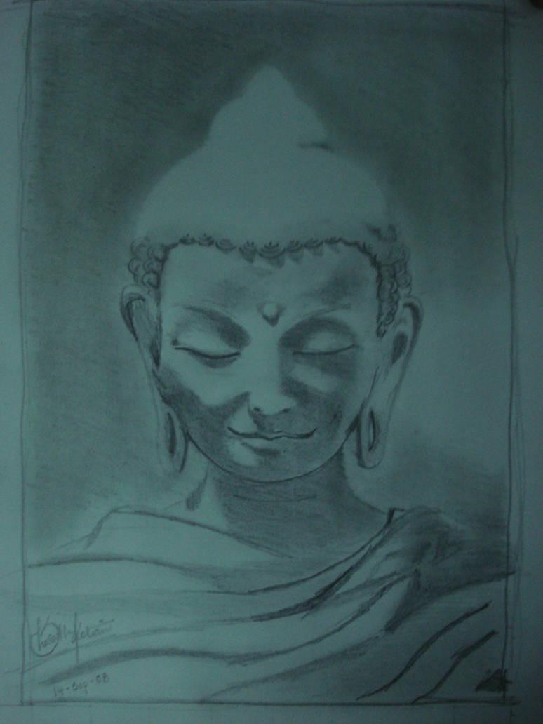 Buddha pencil sketch by smkotian
