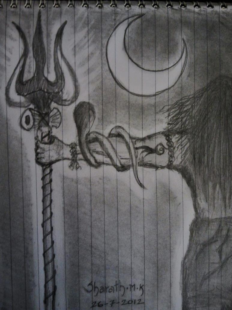 Pencil sketch of god shiva pencildrawing2019