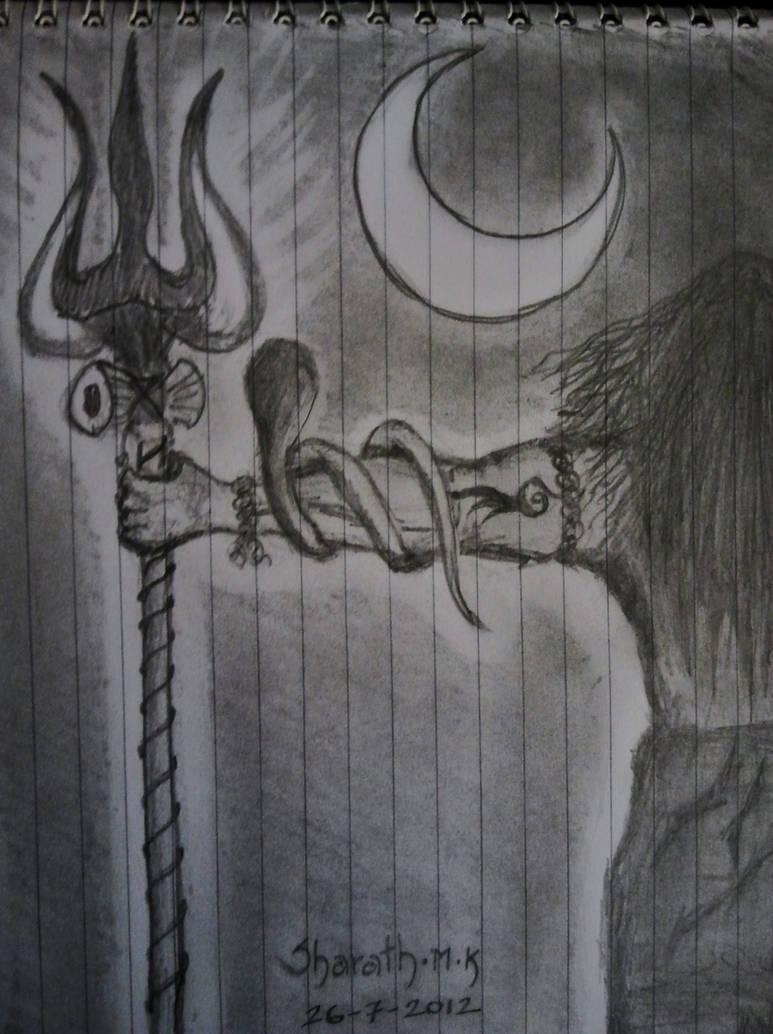 Shiva pencil sketch by smkotian