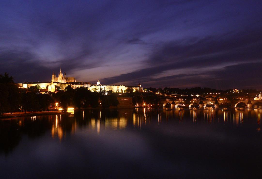 Prague at night 4 by KnockStock