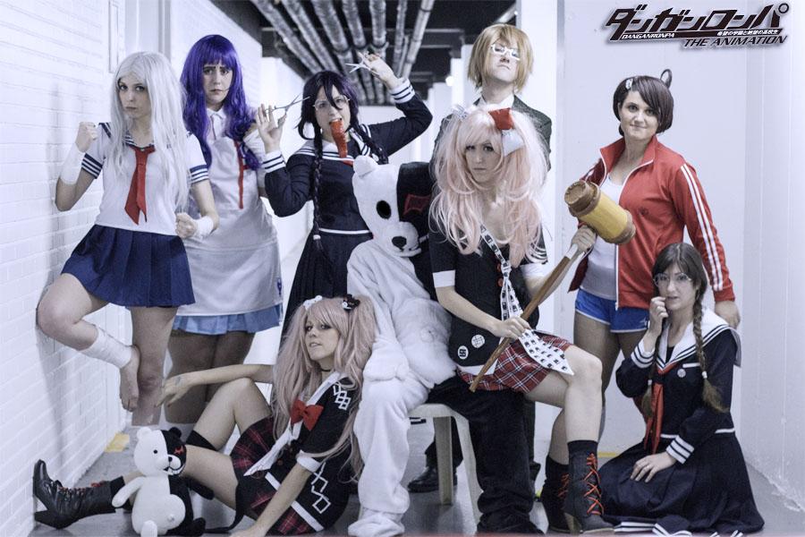 Danganronpa group cosplay by moonlightspirit