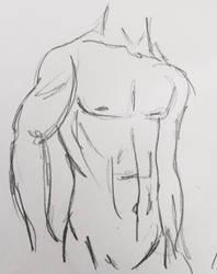 Male figure sketch