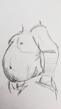 Male body drawing