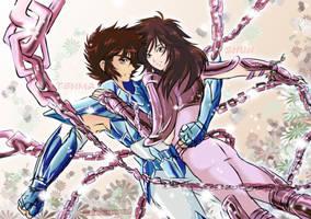 Tenma and Shun Next Dimension by saintcosevent