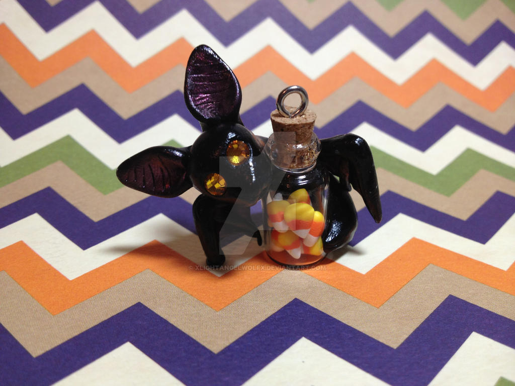 Candy Corn Bat by xlightangelwolfx