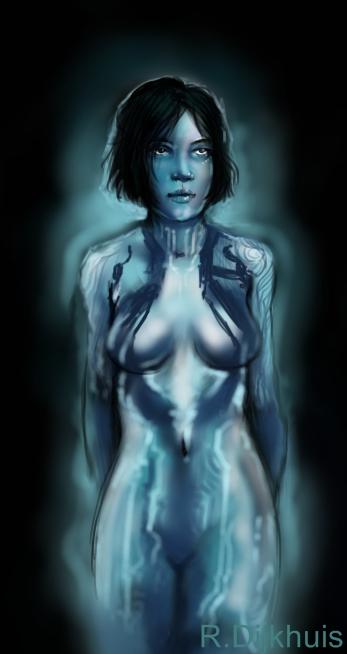 Cortana Sketch by skycladstrega
