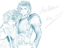 Cloud Strife and Zack Fair
