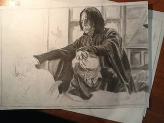 Study, or Snape will get you - drawing WIP by MelieseReidMusic