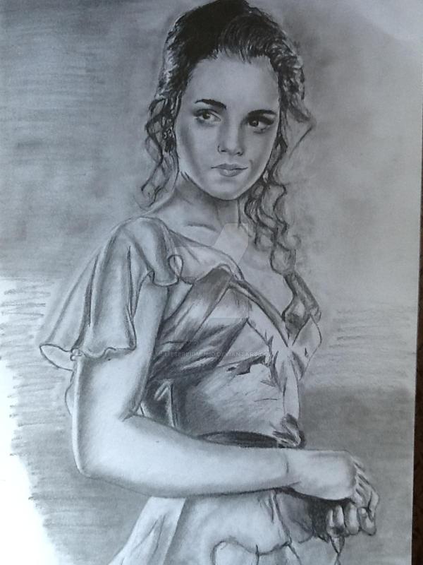 Emma Watson WIP drawing by MelieseReidMusic