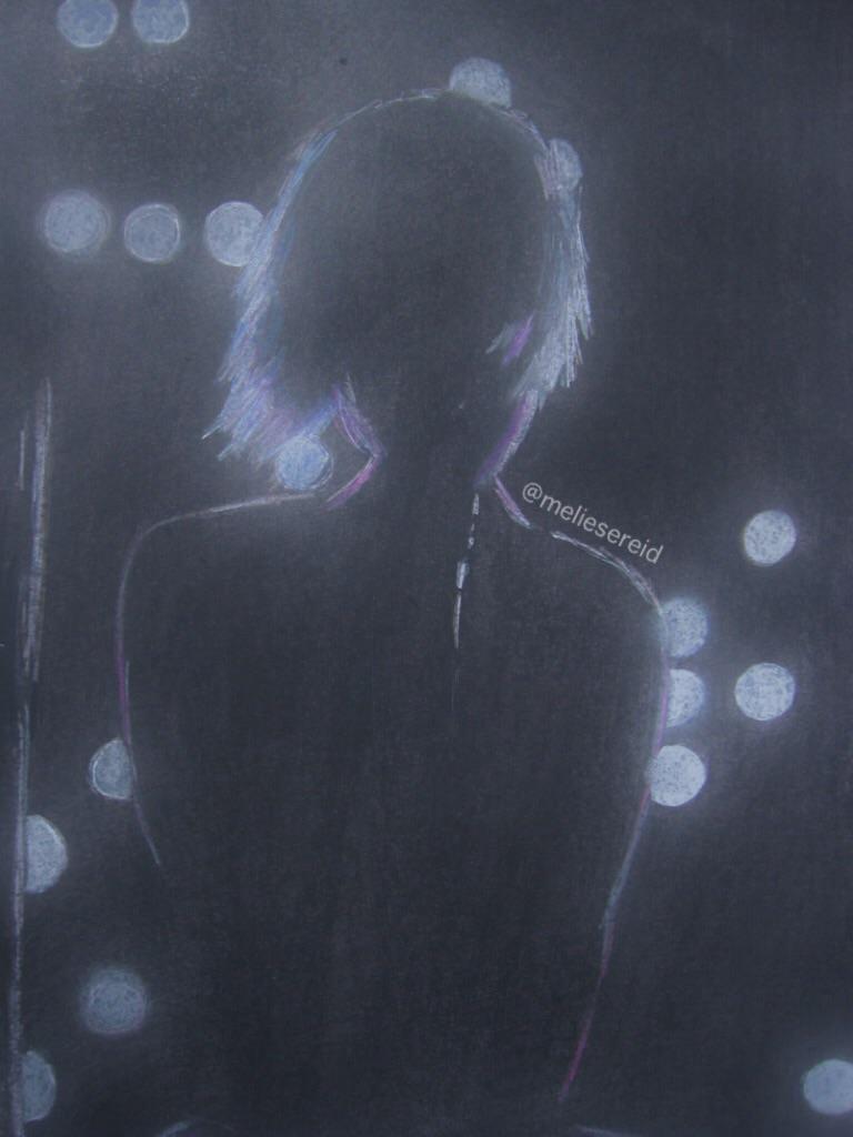 Hayley 'let the flames begin/part II' live drawing by MelieseReidMusic