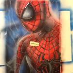 The Amazing Spider-Man airbrush painting