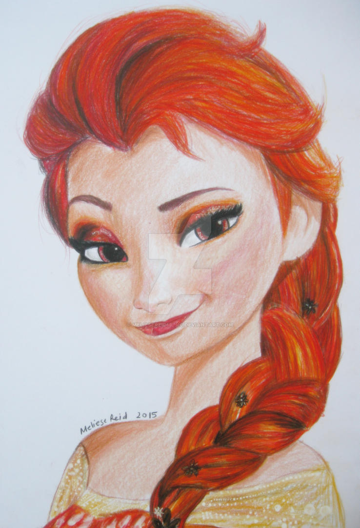 Fire Elsa drawing by MelieseReidMusic