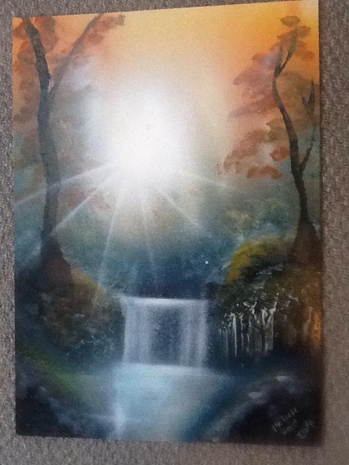 Nature Spray Painting by MelieseReidMusic
