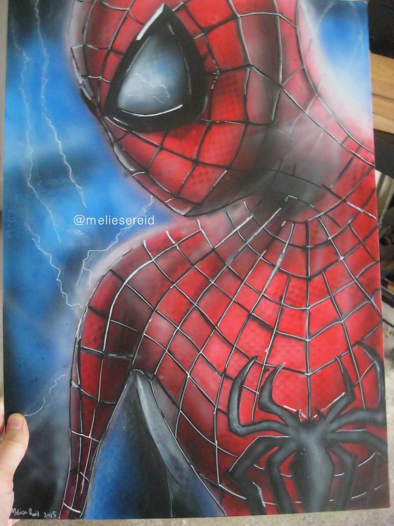 The Amazing Spider-Man airbrush painting by MelieseReidMusic