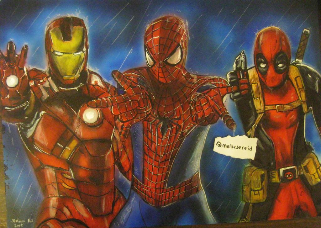Marvel - 'Team Red' drawing/painting by MelieseReidMusic